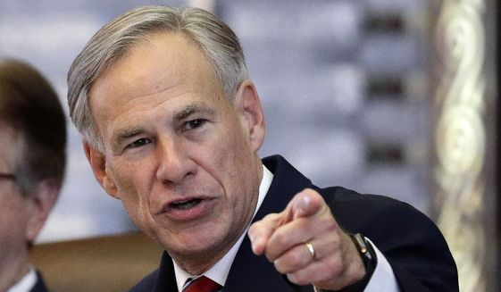 Texas Gov. Greg Abbott appears in the House Chamber in Austin, Texas. New U.S. Labor Dept. data reveals that Republican governors like Abbott excel in returning citizens to work in their states. (AP Photo/Eric Gay)