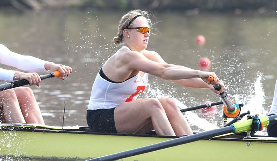Princeton's Claire Collins will represent Team USA when she participates in the women's four rowing event in this year's Tokyo Olympics.  Collins, 24, hails from McLean, Virginia. (Photo courtesy of Beverly Schaefer, Princeton)