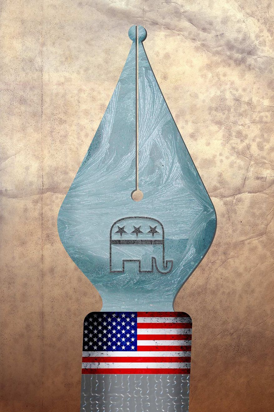 GOP Contract with America Illustration by Greg Groesch/The Washington Times