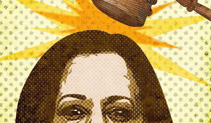 Kamala Harris Clocked by Supreme Court Illustration by Greg Groesch/The Washington Times