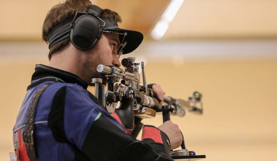 Lucas Kozeniesky is set to make his second appearance at the Olympics as a member of the U.S. men's shooting team. He's changed his approach to competition and rededicated himself to the sport since finishing 21st in 2016. He's now a legitimate gold medal contender. (Photo courtesy of the U.S. men's team)