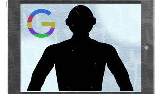 Illustration on Big tech dividing Black America by Alexander Hunter/The Washington Times