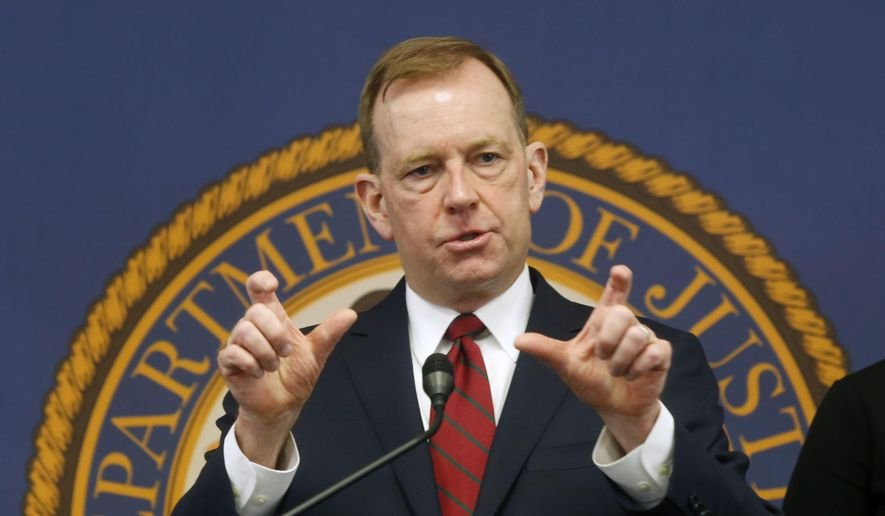 In this Jan. 24, 2020, file photo, McGregor Scott, U.S. attorney for the Eastern District of California, answers questions during a news conference in Sacramento, Calif. California Gov. Gavin Newsom's administration has announced that the former federal prosecutor will help investigate unemployment benefits fraud. State officials on Tuesday, July 20, 2021, named Scott as a fraud special counsel. (AP Photo/Rich Pedroncelli, File)