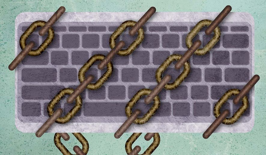 Government Censorship Illustration by Greg Groesch/The Washington Times