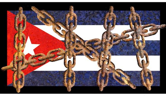 Illustration on Cuba under communism by Alexander Hunter/The Washington Times