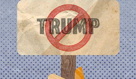 Trump's Free Speech Denial by Big Tech Illustration by Greg Groesch/The Washington Times