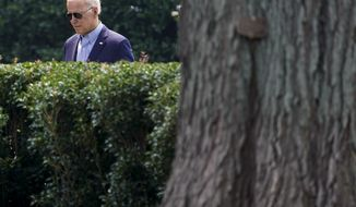 President Joe Biden walks to Marine One on the South Lawn of the White House in Washington, Wednesday, July 21, 2021, as he heads to Cincinnati to push his economic policies. (AP Photo/Susan Walsh)