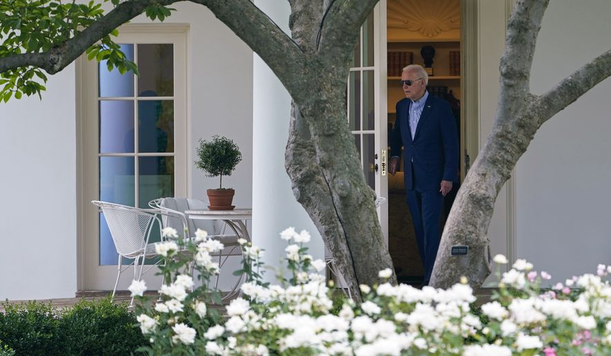 President Joe Biden walks out of the Oval Office to head to Marine One on the South Lawn of the White House in Washington, Wednesday, July 21, 2021, as he travels to Cincinnati to push his economic policies. (AP Photo/Susan Walsh)