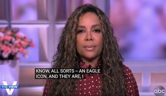 """Sunny Hostin discusses her support for the end of online anonymity for social media platforms, July 21, 2021. (Image: YouTube, ABC, """"The View"""" video screenshot)"""