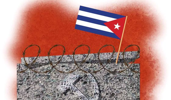 Illustration on communism and Cuba by Alexander Hunter/The Washington Times