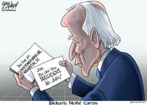 Biden's Note Cards