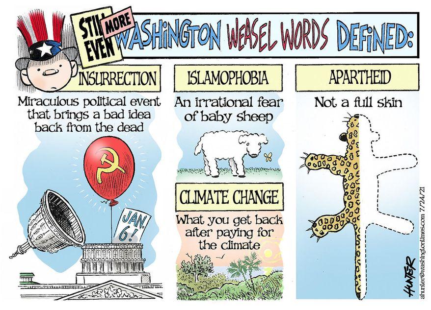Illustration by Alexander Hunter for The Washington Times (published July 25, 2021)