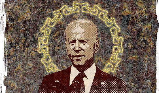 Covid Joe Biden Illustration by Greg Groesch/The Washington Times