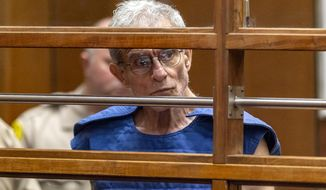 FILE - In this Sept. 19, 2019, file photo, Ed Buck appears in Los Angeles Superior Court in Los Angeles. A federal jury has convicted the wealthy donor to Democrats on charges he injected gay men with methamphetamine in drugs-for-sex fetish that led to two deaths and other overdoses. Buck was found guilty of all nine felony counts in federal court that could lead to a life sentence. (AP Photo/Damian Dovarganes, File)