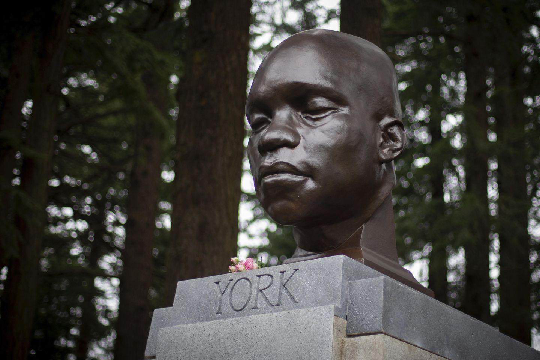 Statue of York, Black hero on Lewis & Clark trip, toppled in Portland, Oregon