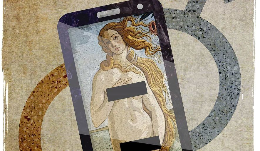 Teenager Sexting Illustration by Greg Groesch/The Washington Times