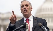Rep. Andy Biggs, R-Ariz., Chairman of the House Freedom Caucus, speaks at a news conference on Capitol Hill in Washington, Thursday, July 29, 2021, to complain about Speaker of the House Nancy Pelosi, D-Calif. and masking policies. (AP Photo/Andrew Harnik)