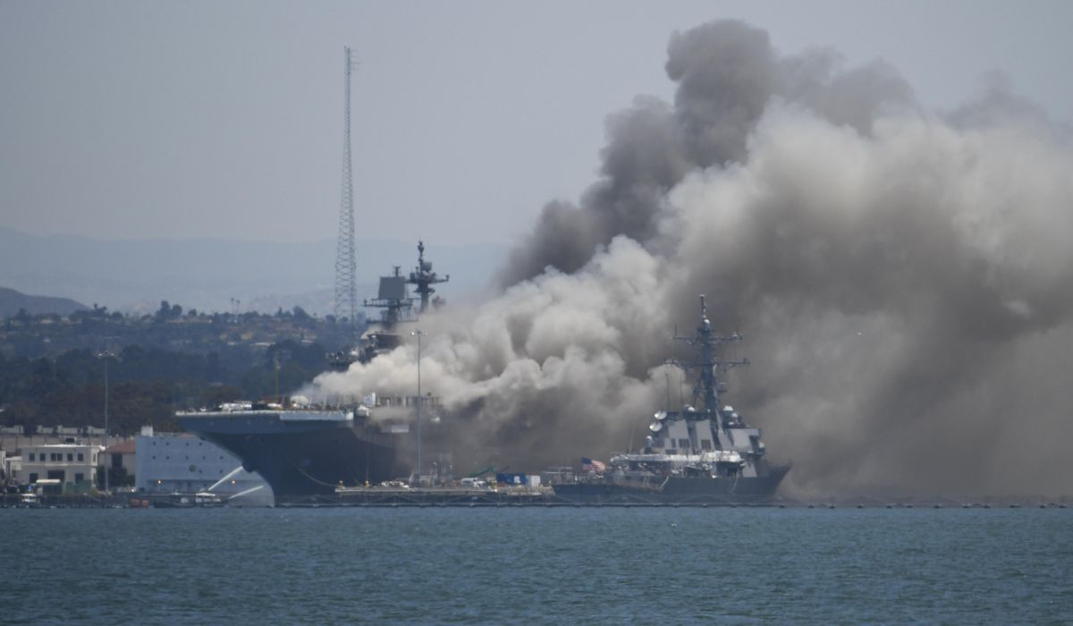 Sailor accused of torching USS Bonhomme Richard flunked SEAL school