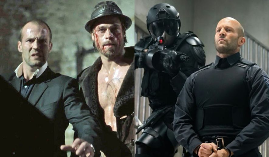 """Jason Statham and Brad Pitt in """"Snatch"""" from Sony Pictures Home Entertainment and Jason Statham in """"Wrath of Man"""" from Warner Bros. Home Entertainment."""