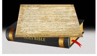 Illustration on the Biblical acknowledgments of the religious founders by Alexander Hunter/The Washington Times