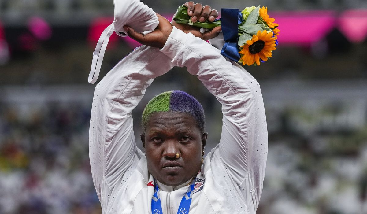 Raven Saunders takes politics to podium with Olympic protest