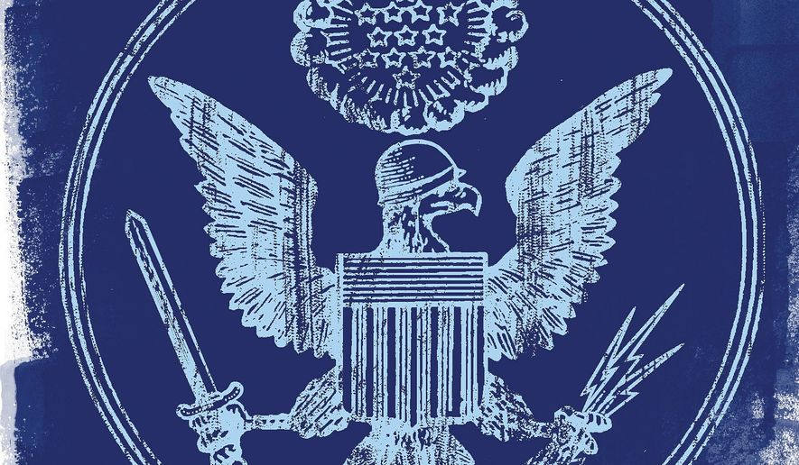 The War Powers Debate Illustration by Linas Garsys/The Washington Times