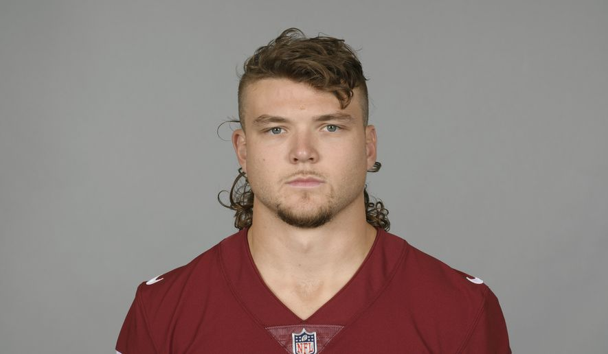 This is a 2021 photo of Cole Holcomb of the Washington NFL football team. This image reflects the Washington active roster as of Monday, June 7, 2021 when this image was taken. (AP Photo)