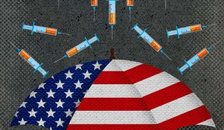 Biden, COVID-19 and Anti-Vaccine Sentiment Illustration by Greg Groesch/The Washington Times
