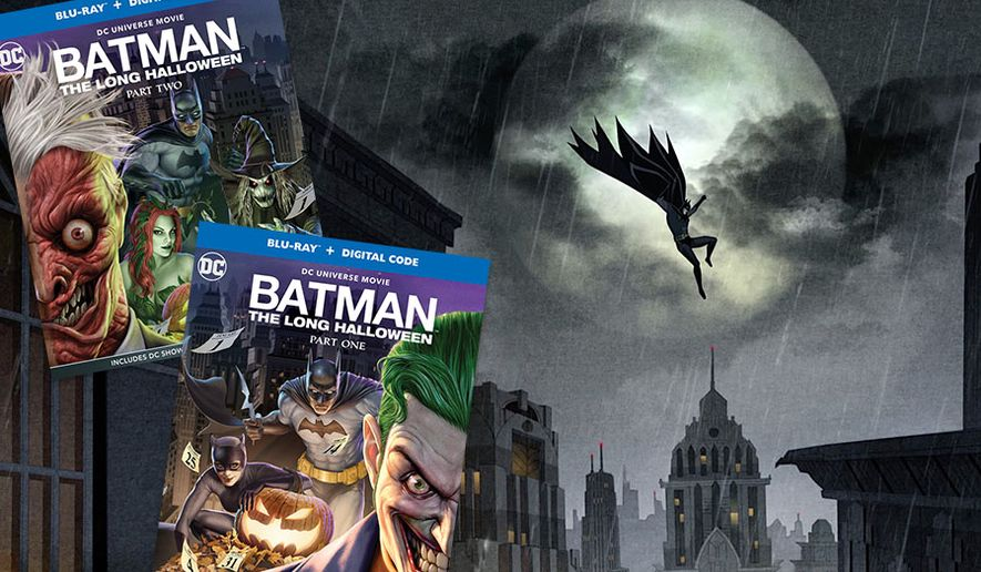 """""""Batman: The Long Halloween,"""" Part One and Part Two,"""" now available in the Blu-ray format from Warner Bros. Home Entertainment."""