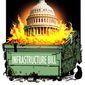 Illustration on the infrastructure bill by Alexander Hunter/The Washington Times