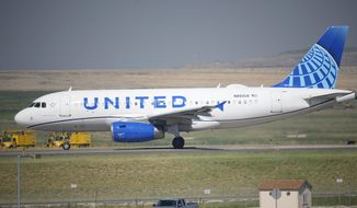 In this July 2, 2021, file photo, a United Airlines jetliner taxis down a runway for take-off from Denver International Airport in Denver. United Airlines will require U.S.-based employees to be vaccinated against COVID-19 by late October, and maybe sooner. United announced the decision on Friday, Aug. 6. (AP Photo/David Zalubowski, File)