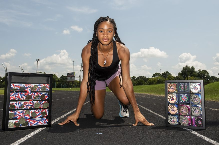 Brew Tech's Chanice Spicer poses for a portrait in Montgomery, Ala., on Wednesday, July 28, 2021. (Jake Crandall/The Montgomery Advertiser via AP)
