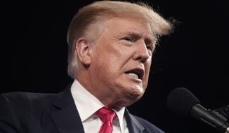 Former President Donald Trump speaks at the Conservative Political Action Conference (CPAC) in Dallas, Texas, July 11, 2021. (AP Photo/LM Otero) ** FILE **