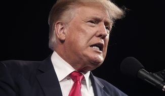 In this July 11, 2021, file photo, former President Donald Trump speaks at the Conservative Political Action Conference (CPAC) in Dallas, Texas.  (AP Photo/LM Otero, File)