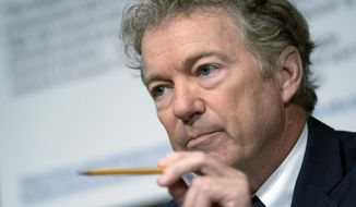 In this July 20, 2021, file photo, Sen. Rand Paul, R-Ky., speaks during a Senate Health, Education, Labor, and Pensions Committee hearing, on Capitol Hill in Washington.  YouTube has suspended Paul for seven days, Wednesday, Aug. 11, after the Kentucky Republican posted a misleading video suggesting face masks don't prevent infection by COVID-19. The video was also removed. (Stefani Reynolds/The New York Times via AP, Pool, File)