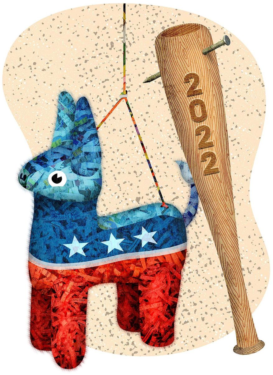 Democrats Chances in 2022 Election Illustration by Greg Groesch/The Washington Times