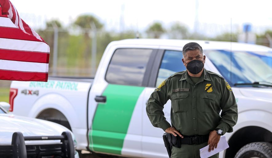 In this file photo, a U.S. Border Patrol Chief Raul Ortiz listens Thursday, Aug. 12, 2021, at a press conference with Homeland Security Secretary Alejandro Mayorkas at Fort Brown Border Patrol Station in Brownsville, Texas. (Denise Cathey/The Brownsville Herald via AP)  **FILE**