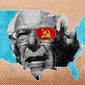 Illustration on the political left and Bernis Sanders in the Democratic Party by Greg Groesch/The Washington Times