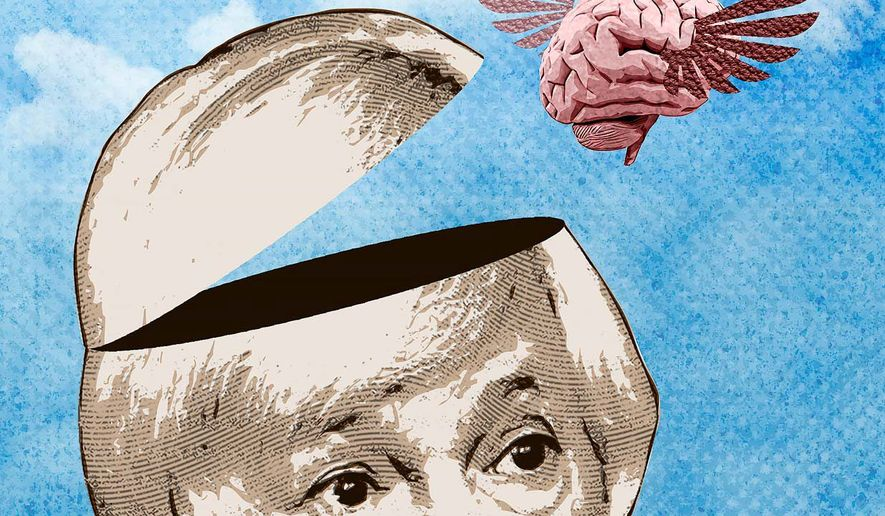 Government Employee Brain Loss and Yellen's Economy Illustration by Greg Groesch/The Washington Times