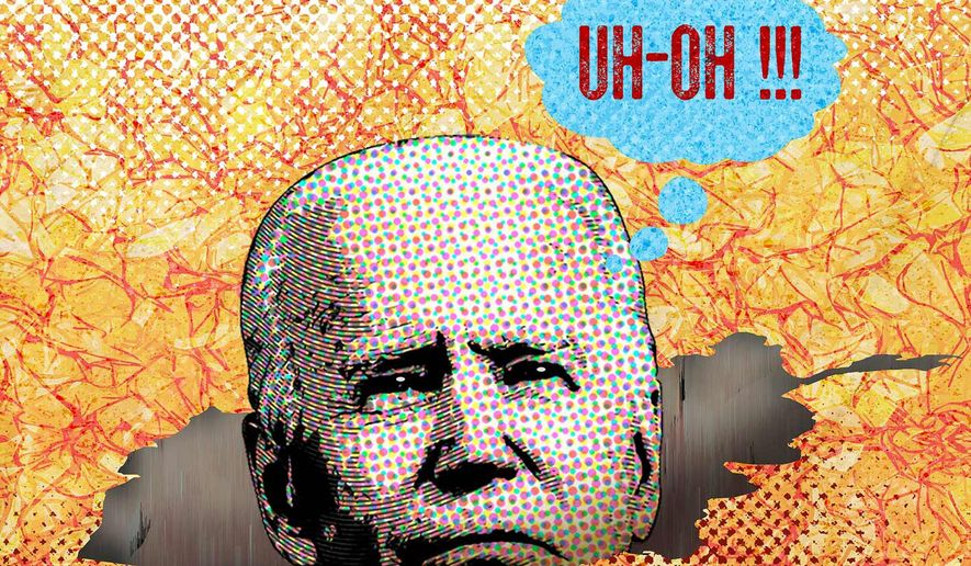 Illustration on impeaching Biden by Greg Groesch/The Washington Times
