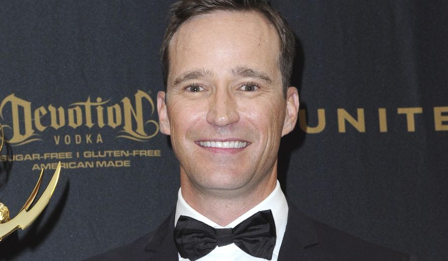"""Producer Mike Richards poses in the pressroom at the 43rd annual Daytime Emmy Awards on May 1, 2016, in Los Angeles. Richards stepped down as host of """"Jeopardy!"""" after a report about past misogynistic comments surfaced this week. He was chosen last week as the successor to Alex Trebek, but his selection was seen as divisive from the beginning after the show embarked on a broad search that included actors, sports figures, journalists and celebrities. (Photo by Richard Shotwell/Invision/AP, File)"""