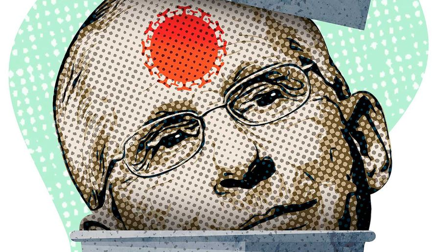 Junk Science and Dr. Fauci Illustration by Greg Groesch/The Washington Times