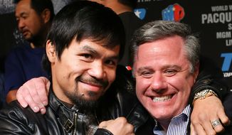 Boxing legend Manny Pacquiao and his long-time publicist, the District's Fred Sternburg. (Photo courtesy of Fred Sternburg).