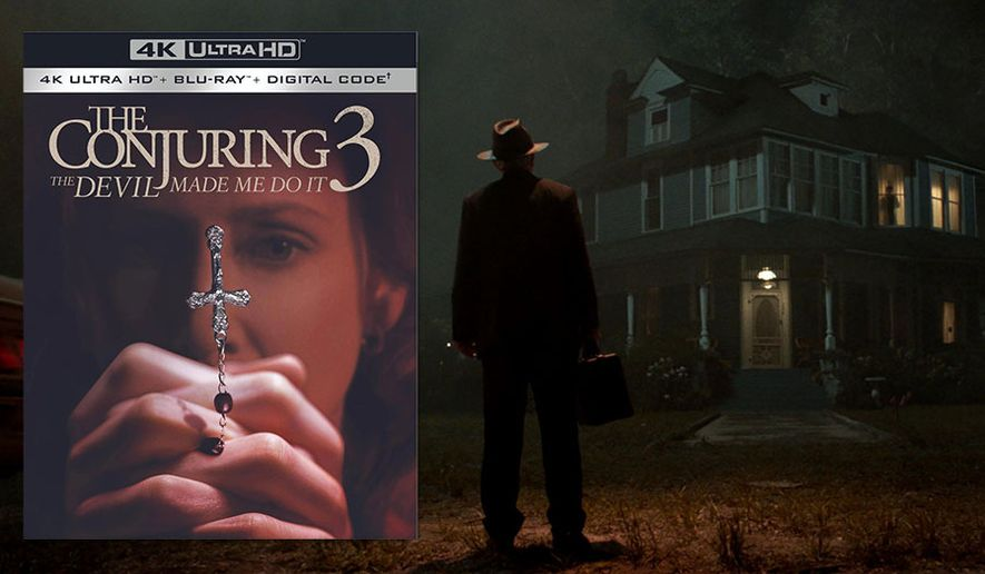 """A priest arrives for an exorcism in """"The Conjuring: The Devil Made Me Do It,"""" now available in the 4K Ultra HD format from Warner Bros. Home Entertainment."""