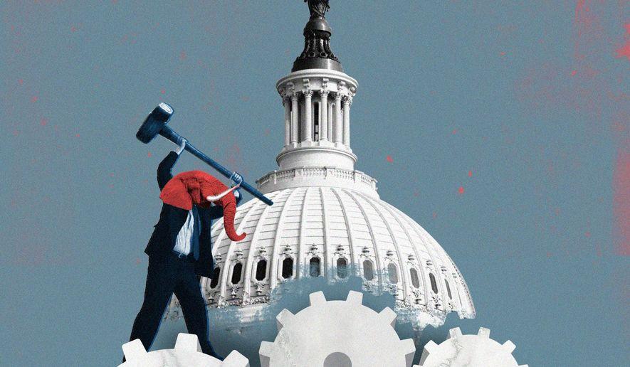 Big government illustration by Linas Garsys / The Washington Times