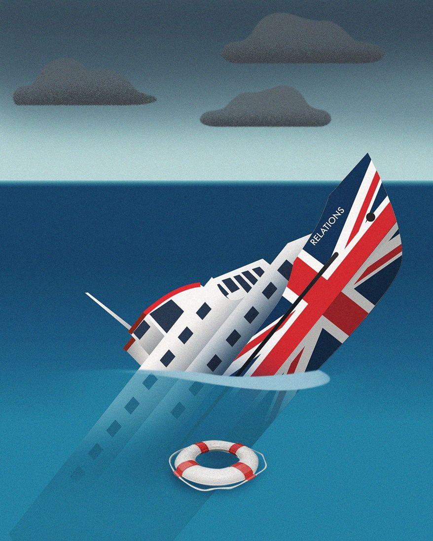 Biden's Sinking Diplomacy with United Kingdom Illustration by Linas Garsys/The Washington Times