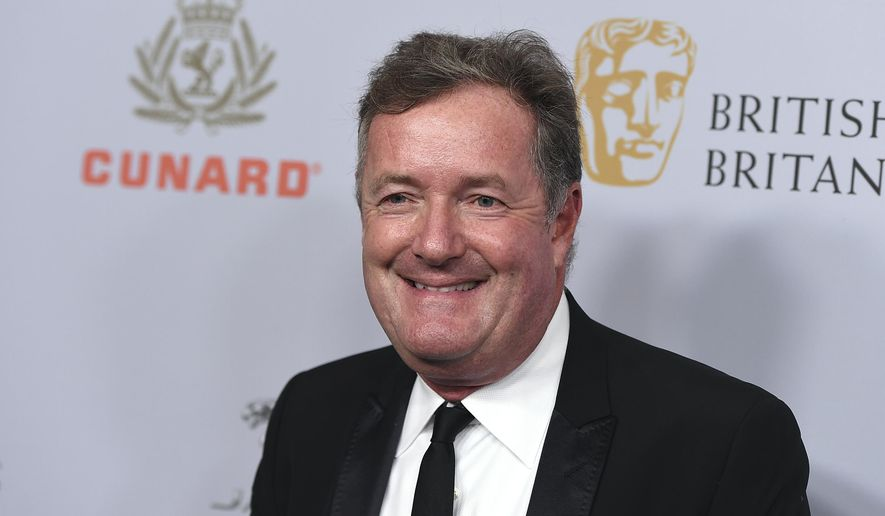 In this Friday, Oct. 25, 2019, file photo, Piers Morgan arrives at the BAFTA Los Angeles Britannia Awards at the Beverly Hilton Hotel in Beverly Hills, Calif. (Photo by Jordan Strauss/Invision/AP, File)