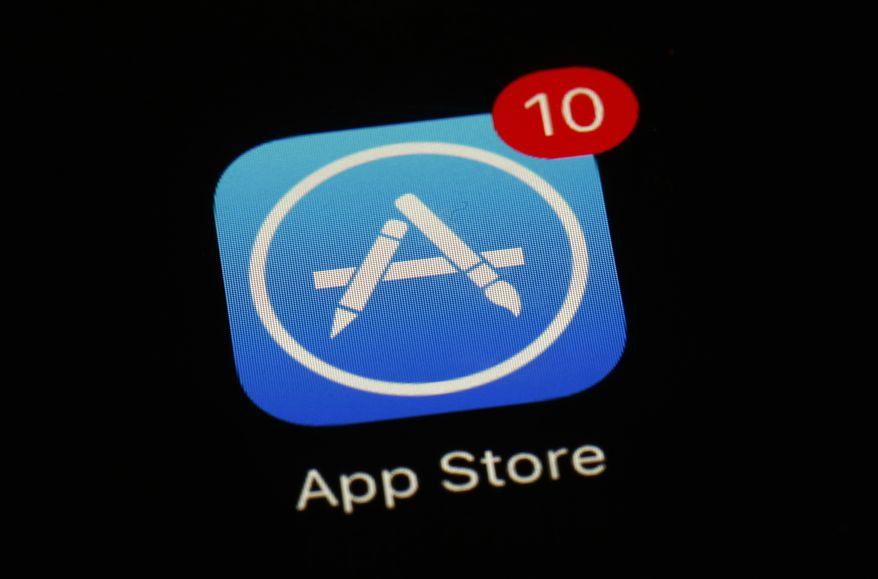 This March 19, 2018, file photo shows Apple's App Store app. (AP Photo/Patrick Semansky) ** FILE **