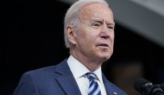 President Joe Biden speaks about the response to Hurricane Ida during an event in the South Court Auditorium on the White House campus, Thursday, Sept. 2, 2021, in Washington. (AP Photo/Evan Vucci)