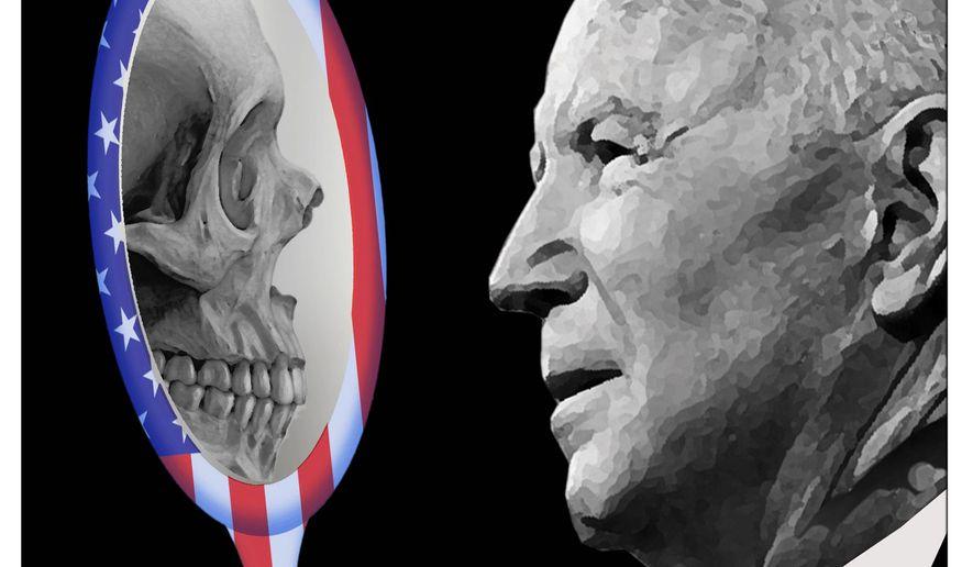 Illustration on Joe Biden's grief by Alexander Hunter/The Washington Times